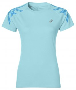 Футболка Asics Stripe Short Sleeve Top W
