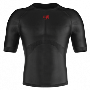 Термофутболка Compressport 3D Thermo Ultra Light Shirt SS TS3D-SS99 черная