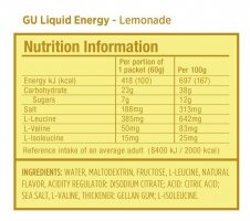 Гель Gu Liquid Energy Gel 60 g Лимонад