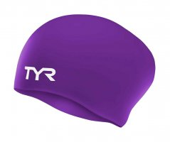 Шапочка для плавания TYR Long Hair Wrinkle-Free Silicone Cap W